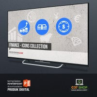 Template PowerPoint FINANCE - ICONS COLLECTION | PresentationLoad