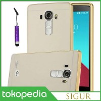 Aluminium Bumper with Mirror Back Cover LG G4 - Golden