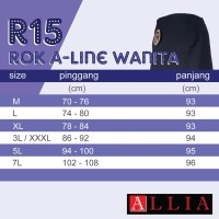 Terbaru ALLIA - Rok A Wanita R15 M - 7L / Rok jumbo wanita / rok