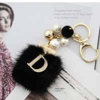 gantungan kunci dan tas bulu asli korea
