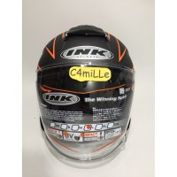 HELM INK DYNAMIC MOTIF 2 GUN METAL DOFF ORANGE HALF FACE EZDD