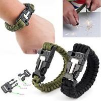 Survival Bracelet Outdoors Gelang Outdoor Gelang Peluit Darurat Api Fi