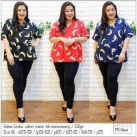 Harga pakaian cewek keren ukuran besar 870 miami banana blouse jumbo   Pembandingharga.com
