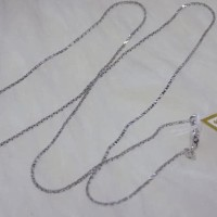 HOT SALE Kalung emas model italy kotak emas putih kadar 75% original