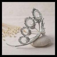 Mahkota rambut yang indah dengan tiara untuk pesta pernikahan NEW