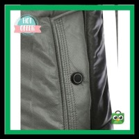 Jual Pocket Design Zippered Buckled Texture Padded Jacket EKSLUSIF