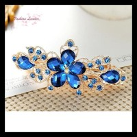 Jepit Rambut Model Bunga Kristal untuk Wanita SALE