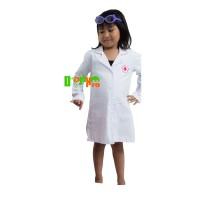 Harga kostum dokter kecil uk 3 3 4 tahun tangan panjang jas | antitipu.com