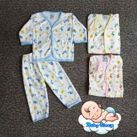 Baju Tidur Bayi Stelan Tangan Panjang Newborn Usia 0 - 6 Bulan