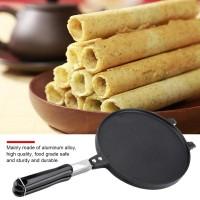 Cetakan Gas NonStick Egg Roll Waffle Cone Maker Pan Mold Press Plate