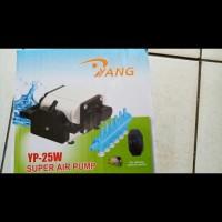 aquarium kolam ikan pompa udara super air pump YANG YP 25 W 6 out put