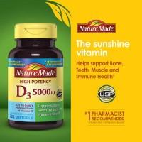 Nature Made Vitamin D3 5000 IU, 220 Softgels.