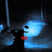 LAMPU LED MOTOR H6 H7 HS1 H4 PUTIH BIRU HI LOW PNP AC DC GARANSI
