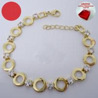 Gelang Tangan Titanium Gold Lovely Monalisa