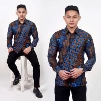 Kemeja Batik Pria Lengan Panjang HDS05