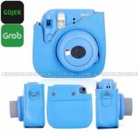 Tas Fujifilm Polaroid Instax Mini 8 / 9 Leather Bag / Case - Cobalt