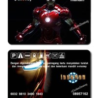 kartu mandiri e-money 50 rb e-toll ironman avengers edition