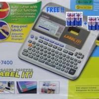 New Print Label Harga Casio KL7400 EZ-Label Printer - Huruf Angka