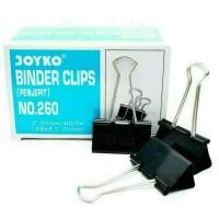New Binder Clip / Penjepit No 260 Joyko ( Isi 12 Klip ) - 51mm