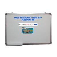 New PAKET Whiteboard Magnetic Sakana 60x120   Spidol WB   Penghapus WB
