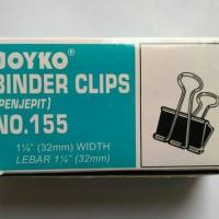 New Binder Clip / Penjepit No 155 Joyko ( Isi 12 Klip ) - 32mm
