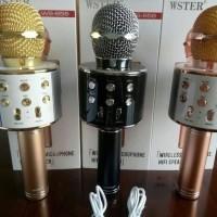 New Mic Karaoke Wireless Bluetooth / Microphone KTV Speaker Tanpa