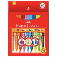 New Crayon Faber Castell 10 Warna ( Connector Twist ) 72 Set
