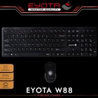 Keyboard dan Mouse Wireless Combo EYOTA W88 JUAL