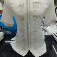 Baju koko putih lengan pendek premium BARU