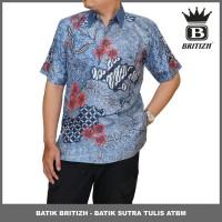 BATIK BRITIZH SUTRA / BATIK TULIS ONLINE COWOK MODEL TERBARU