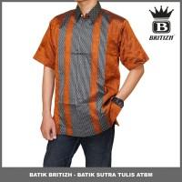 BATIK BRITIZH SUTRA TULIS / BATIK ATBM COWOK MODEL TERBARU