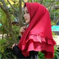 Jilbab Instan Khimar Pet Rempel Tengah / Jilbab Terbaru / Hijab