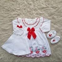 cute baby full bordir gamis set