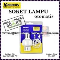 KRISBOW - SOKET LAMPU OTOMATIS DENGAN KABEL SENSOR / FITTING PITTING