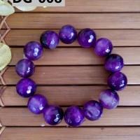 Gelang Batu Kerajinan Tangan Unik Berkelas Nuansa Purple - DG008