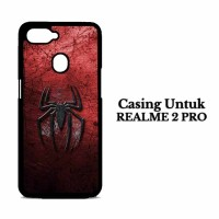 Casing hp Realme 2 Pro Grungy spiderman logo Custom Hard Case Cover