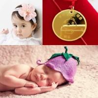 Tiaria Baby Pendant Liontin Perhiasan Emas 24K Free Engrave 5 gram