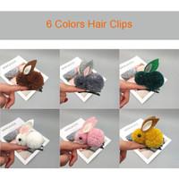 hair clip model kelinci impor per pcs