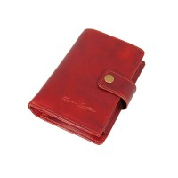 Dompet Kulit Passport Pull up Red - Kenes Leather