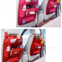 283 Car seat organizer Tas Mobil Multifungsi di pasang di belakang jok