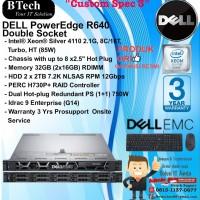 "DELL Server R640 ""Custom Spec 3"" Intel Xeon Silver 4110 RackSeries"