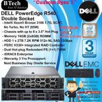 "DELL Server R540 ""Custom Spec 1"" Intel Xeon Bronze 3106 RackSeries"