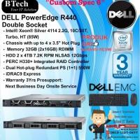 "DELL Server R440 ""Custom Spec 6"" Intel Xeon Silver 4114 RackSeries"