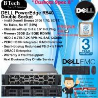 "DELL Server R540 ""Custom Spec 2"" Intel Xeon Bronze 3106 RackSeries"