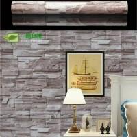Wallpaper sticker motif batu alam