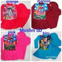 Baju Renang Muslim Rok Anak Cewek SD Motif Hello kitty & Tsum Tsum
