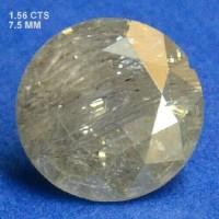 Berlian Certified 1.56 Carat Round Grey Natural Loose Diamond