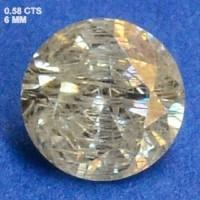 Berlian Certified 0.58 Carat Round Brilliant Natural Loose Diamond