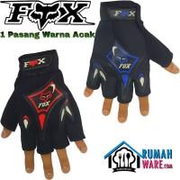 FOX Sarung Tangan Motor Setengah Jari Half Finger