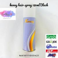 Kenny Black Color Hair Spray 180 ml Cat Pewarna Semprot Rambut Hitam